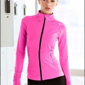 VICTORIA'S SECRET XS Sport Neon Pink Track Jacket